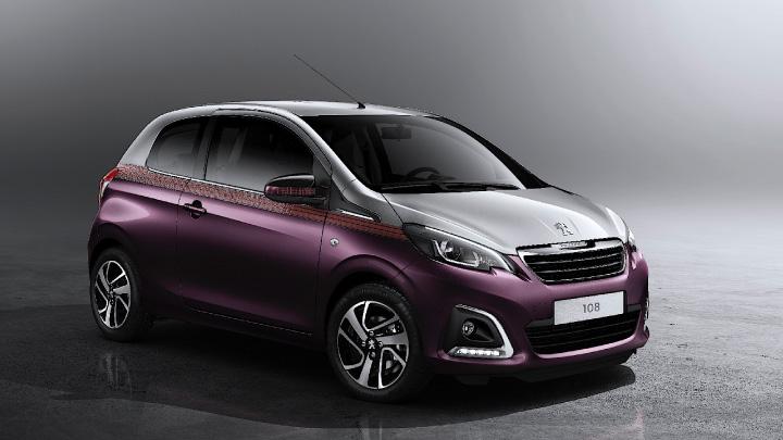 Purple Peugeot 108