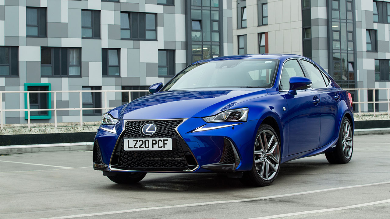 Blue Lexus IS