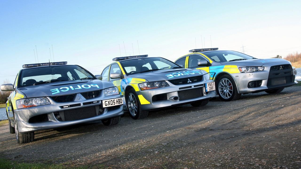 Mitsubishi Lancer Evolution police cars