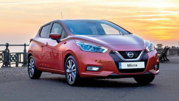 Red Nissan Micra