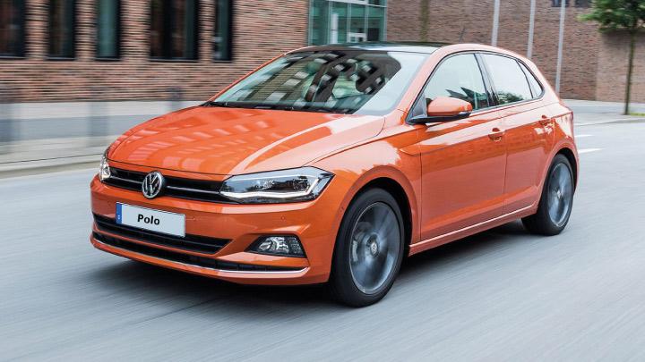 Orange Volkswagen Polo