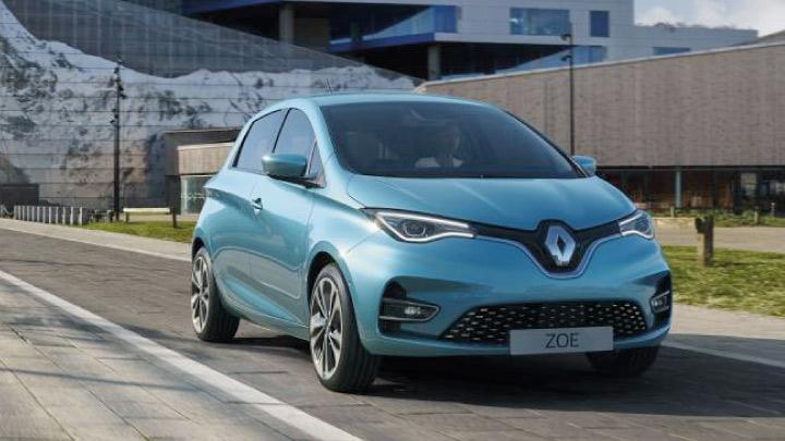 Blue Renault Zoe