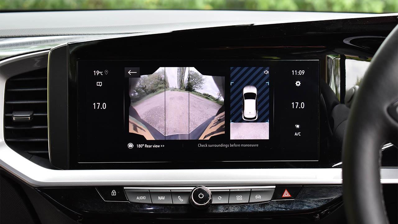 vauxhall mokka, rear-view camera