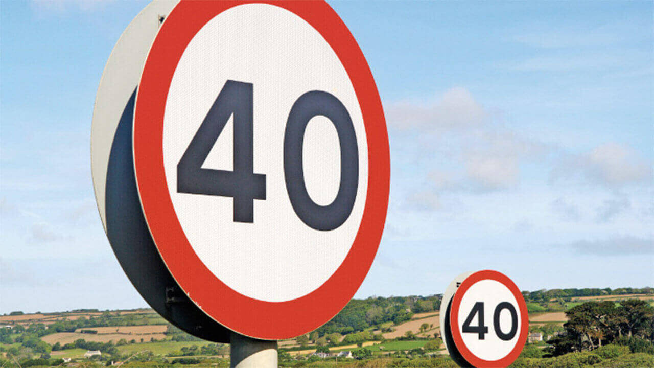 40 Road Sign