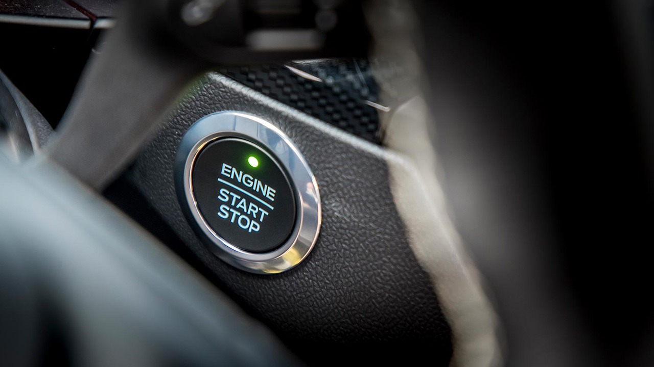 ford focus start stop button