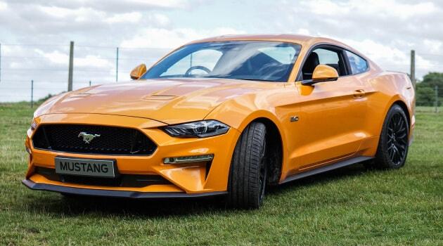 Orange Ford Mustang GT