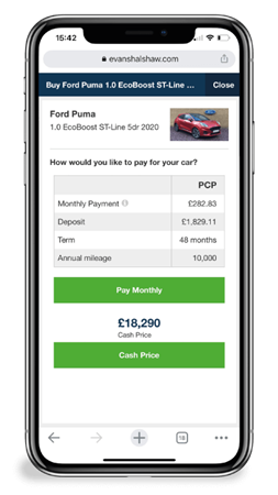 Choosing How to Pay for a Used Car Online