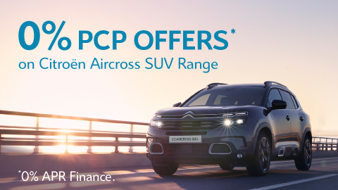 0% APR Finance on Citroen Aircross Range