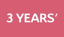 pink brackground 3 years