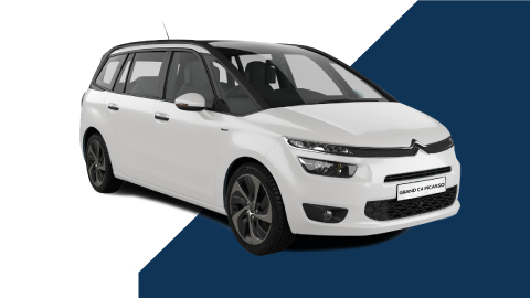 white citroen c4 grand picasso