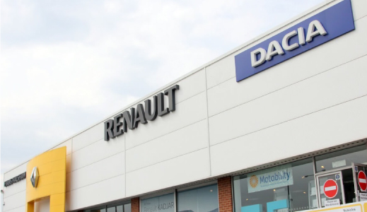 Outside an Evans Halshaw Dacia dealership