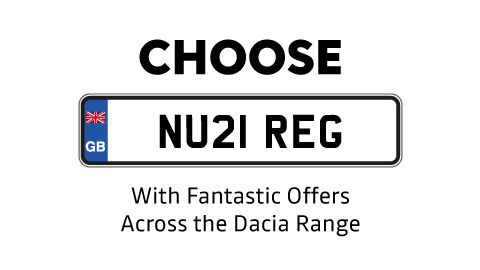 Choose Your NU21 Reg Dacia