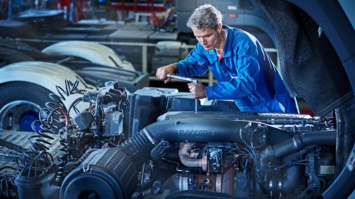 DAF Truck Mechanic in Engine Bay