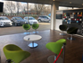Waiting area inside the Dacia Doncaster dealership