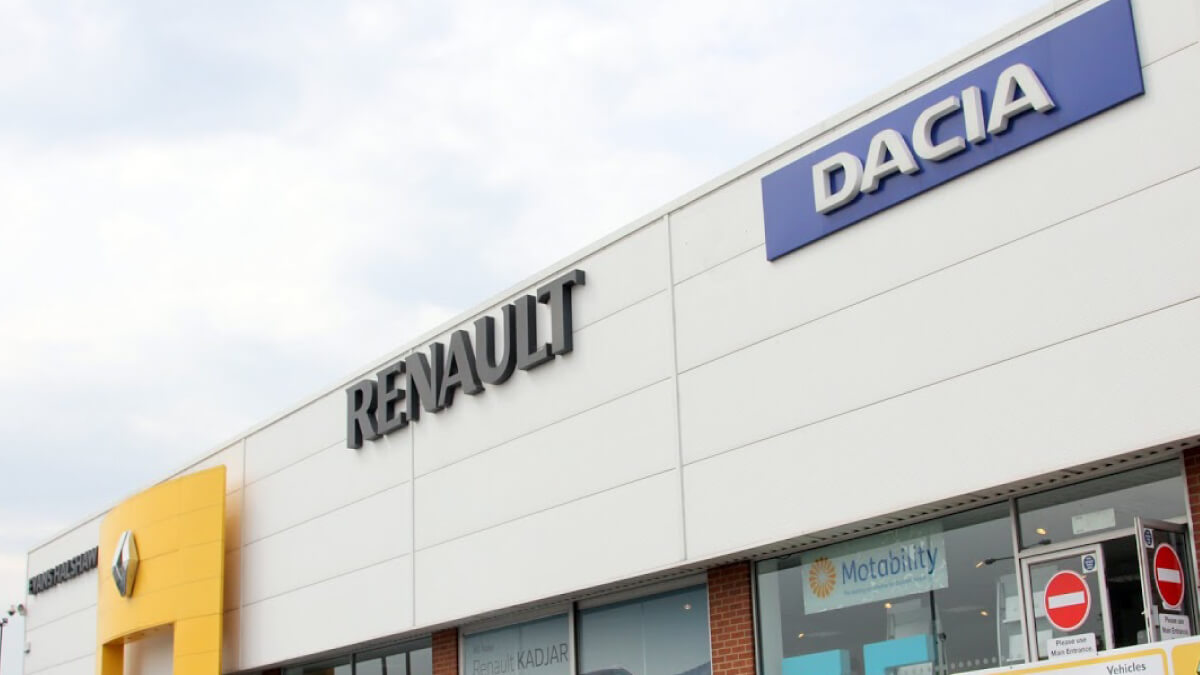 Outside Dacia Doncaster dealership