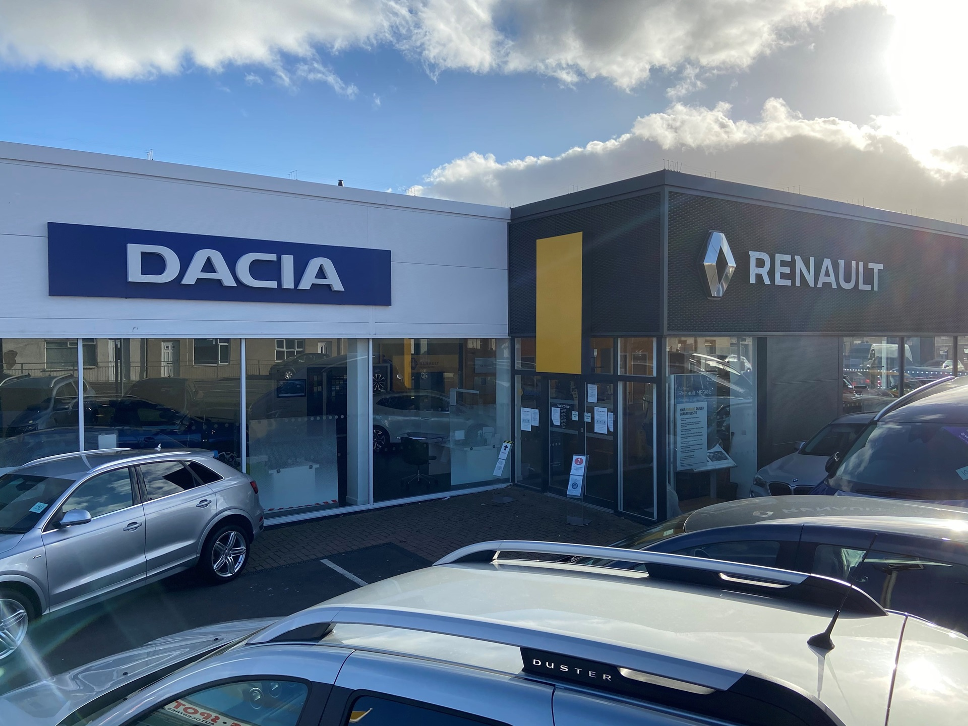 Outside Dacia Durham dealership