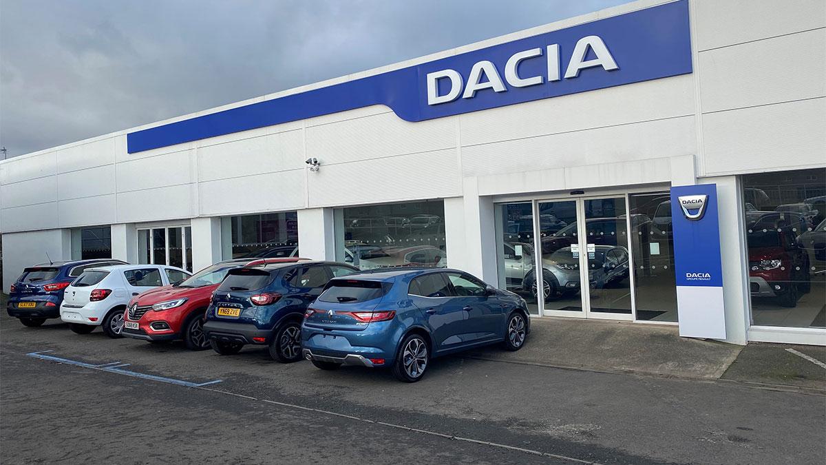 Outside Dacia Edinburgh