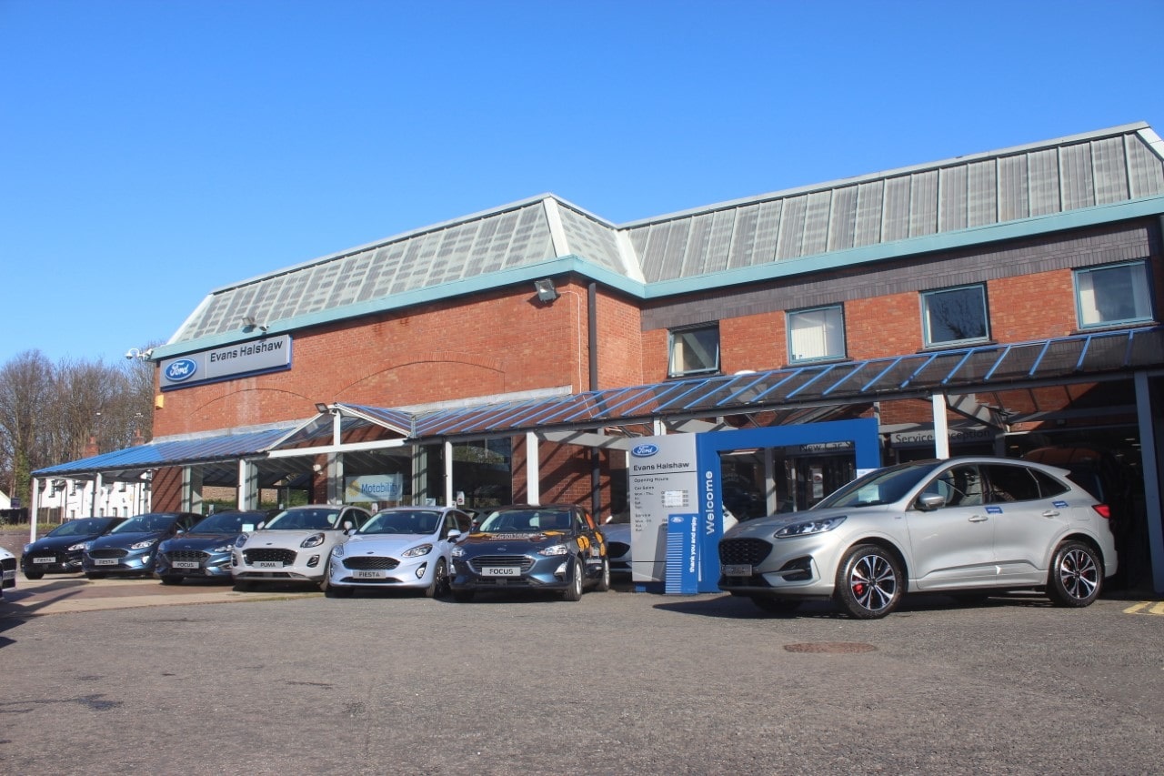 Outside the Ford Altrincham dealership