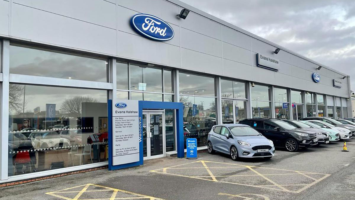 Entrance to the Ford Cardiff dealership