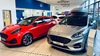 Cars inside the Ford Cardiff showroom
