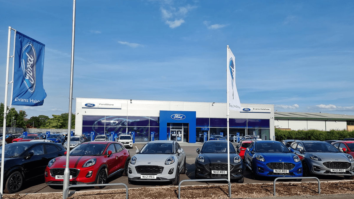 Evans Halshaw Ford Chester Showroom
