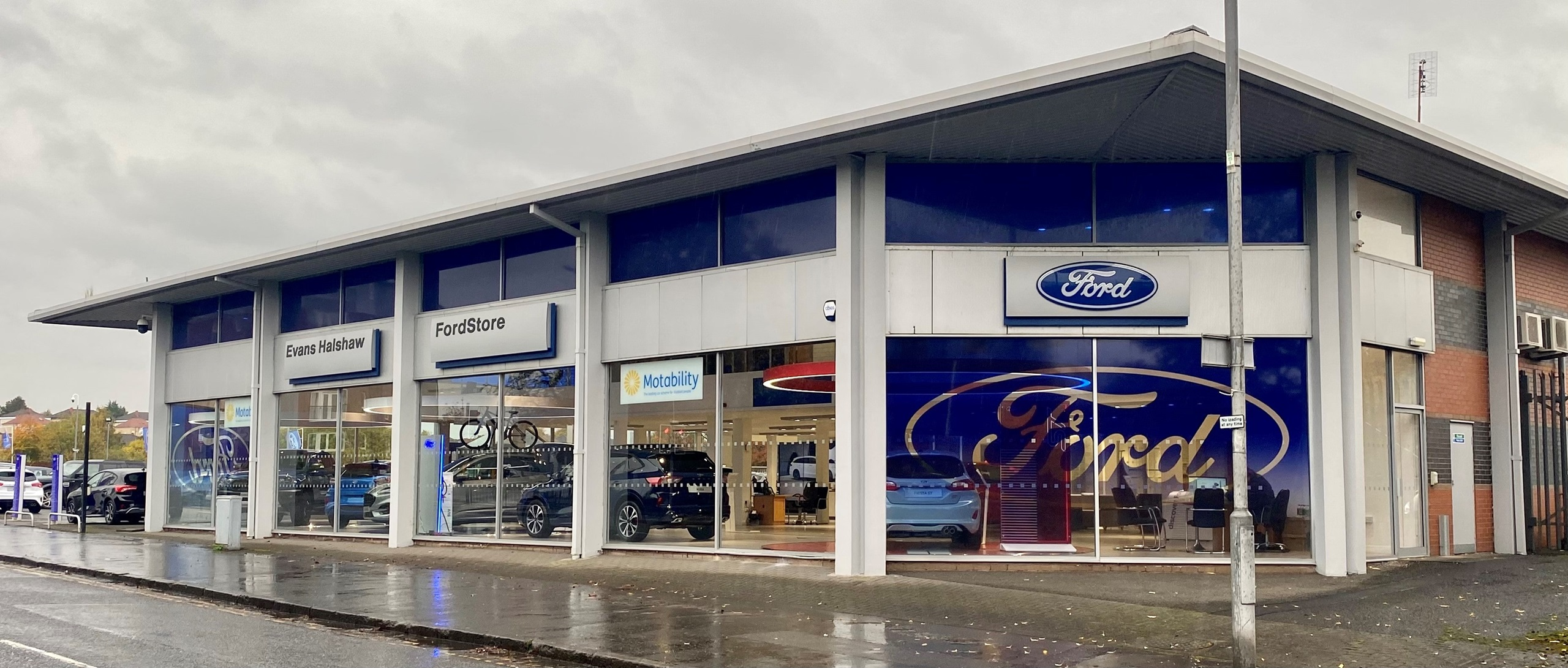 Outside the Ford Glasgow dealership