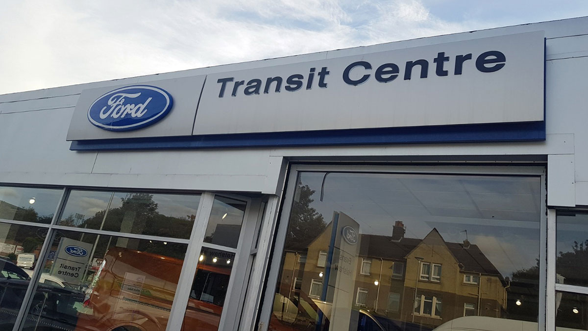 Evans Halshaw Ford Coatbridge Transit Centre.