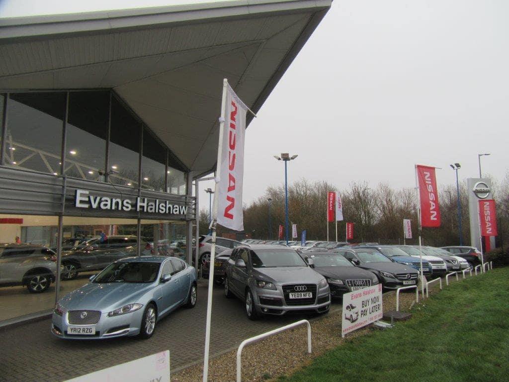 Cars outside the Nissan Sunderland dealership