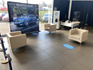 Waiting area inside the Peugeot Mansfield showroom