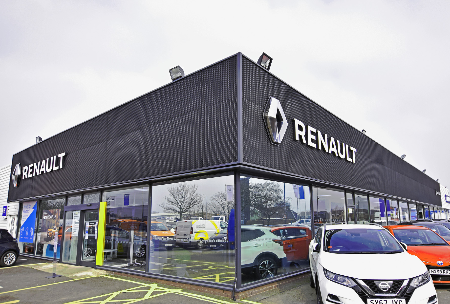 Outside the front of the Renault Middlesbrough dealership