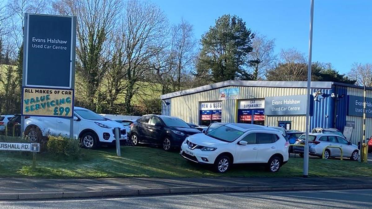 Cars outside the Used Car Centre Plymouth