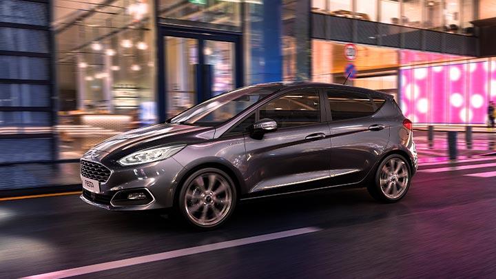 Grey Ford Fiesta Hybrid