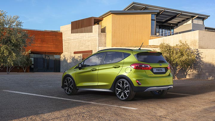 Green Ford Fiesta Hybrid Active