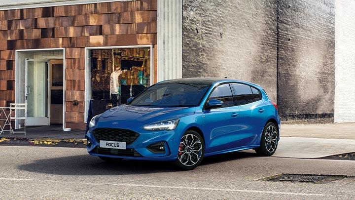 Blue Ford Focus Hybrid