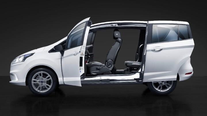 white ford b-max sliding doors