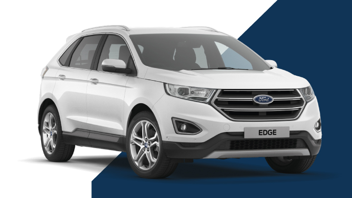 white ford edge