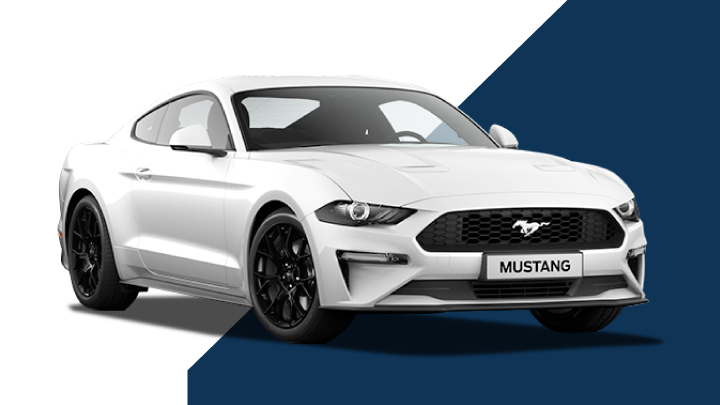 white ford mustang