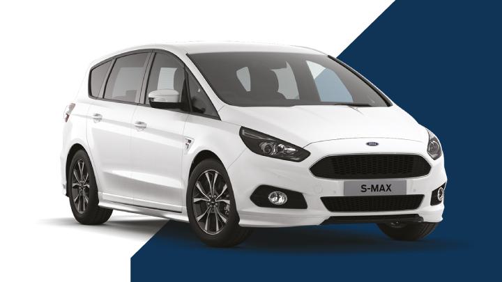 white ford s-max