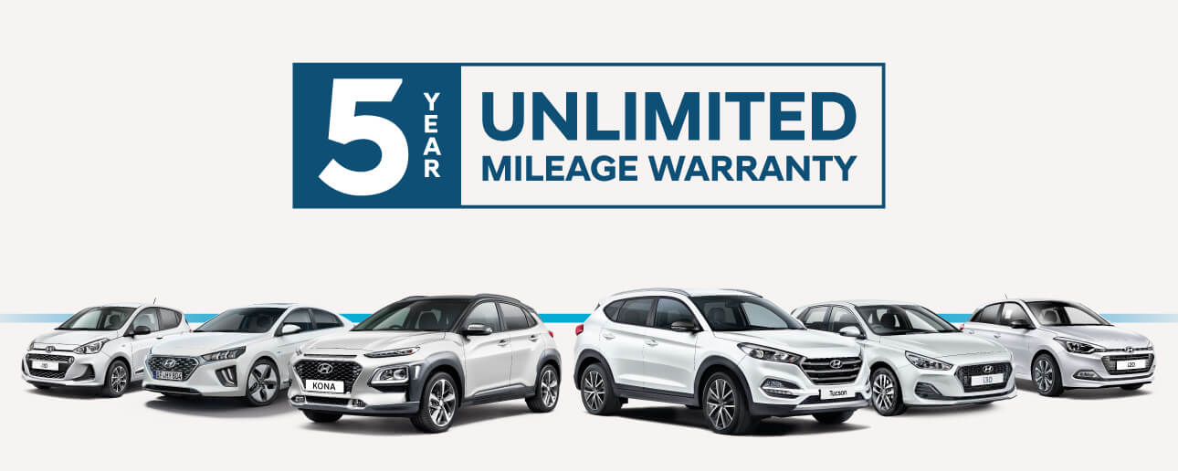 Hyundai 5 Year's Unlimited Mileage Warranty