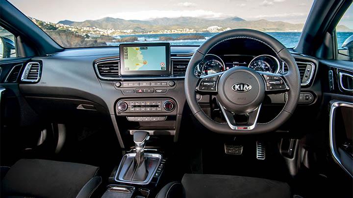 Blue Kia ProCeed, interior