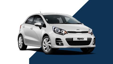 White Kia Rio