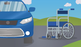 car and a wheelchair