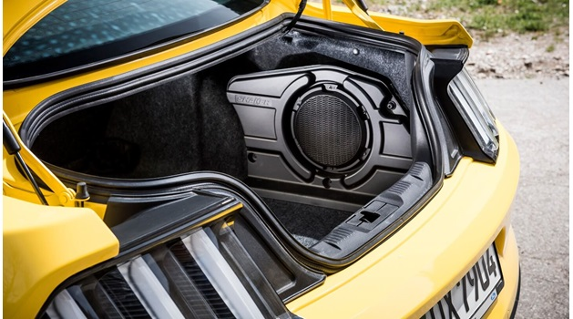 Yellow Ford Mustang Boot