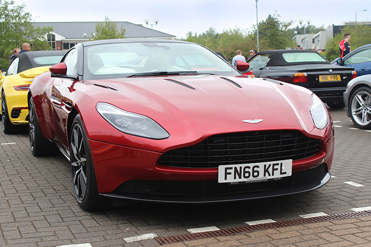 Red Aston Martin DB11