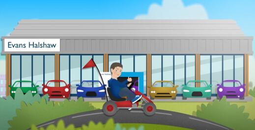 Sell your car cartoon