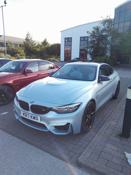 Silver BMW M4
