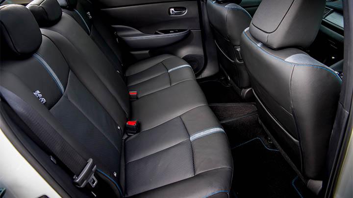nissan leaf rear seats