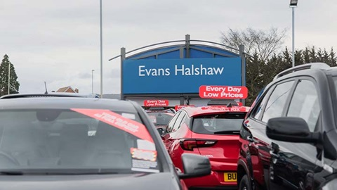 evans halshaw dealership sign