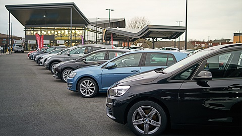evans halshaw vehicle forecourt