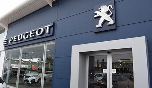 Outside Peugeot dealerships